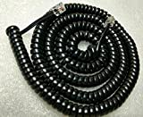 Lot of 5 Black 25' Ft Long Handset Phone Cords for RCA Executive Series 2 3 4 8 Line ViSys 25215 25260 25201 25204 25205 25214 25255 25270 2line 4line 8line (5-Pack) by DIY-BizPhones