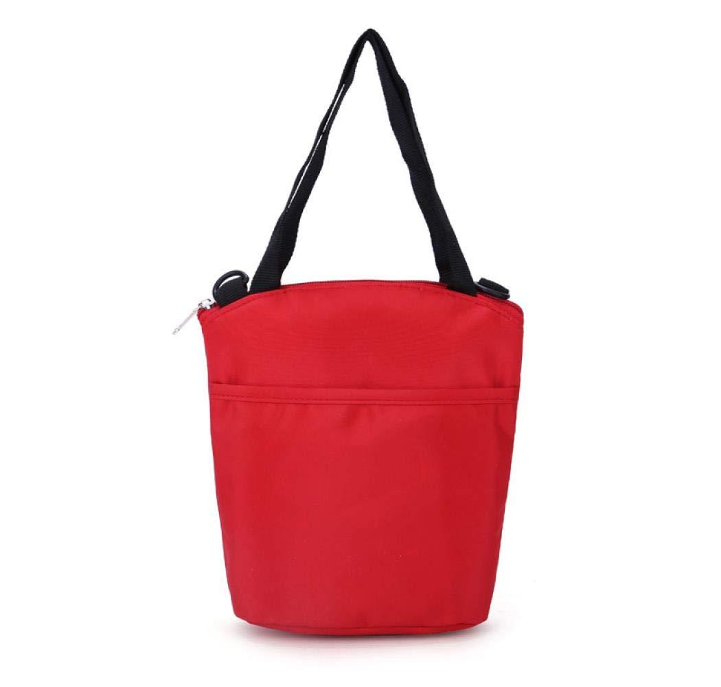 ZVLPE Multi-Functional Insulated Bottle Bottle Bottle Bag Environmentally Friendly Nylon Material Wear-Resistant Breast Milk Storage Bag, red