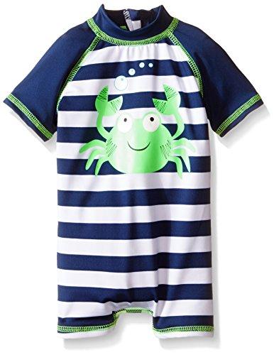 Wippette Baby Girls' Boys Stripe with Crab 1 Piece Swim