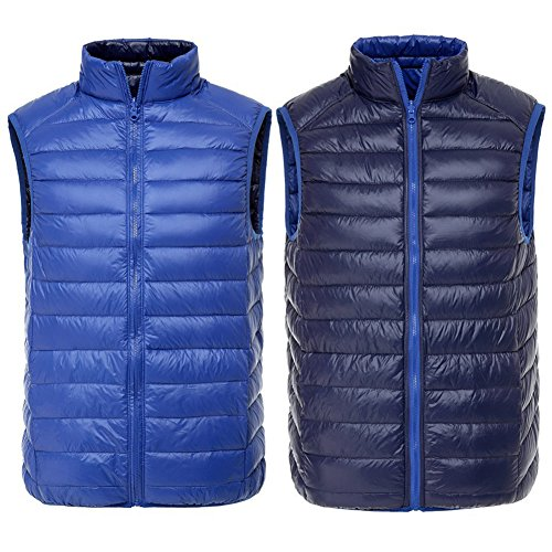 navy Solid Vest Sapphire Hibote Laterale Inverno Double Uomo Gi¨´ Wear Tpz6qf