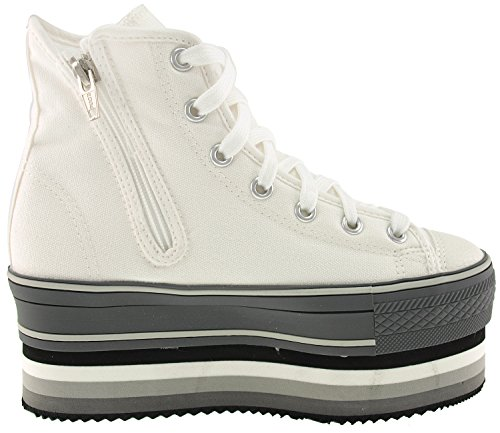 und Sneakers Maxstar High doppelter CN7 Top Canvas mit Streifen Plateausohle qpa8wRq