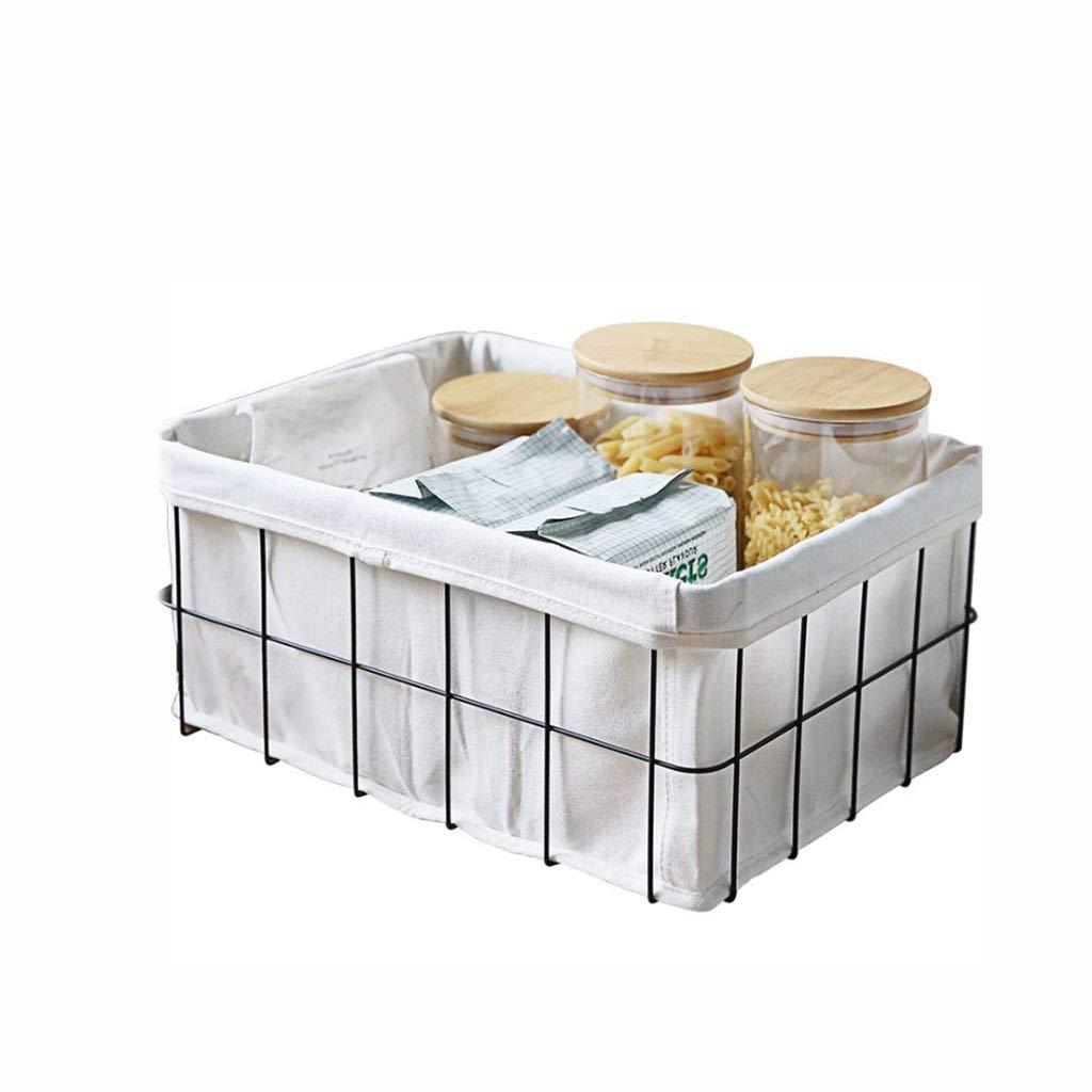 AIWO-PQ Storage Basket Metal Book Sundries Storage for Desktop Bathroom Kitchen