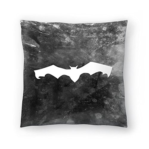 Americanflat Black Bat Halloween Pillow by Jetty Printables 16