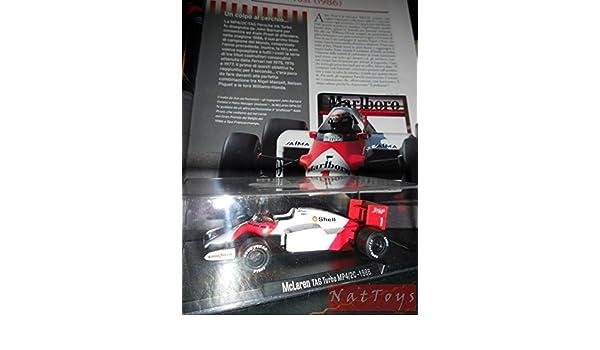 EDICOLA RBA McLaren Tag Turbo MP4/2C 1986 F1 MODELLINO Prost Die Cast 1:43 +fascicolo: Amazon.es: Juguetes y juegos