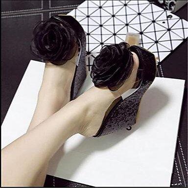 Señoras Sandalias de las mujeres botas invierno Mary Jane sintética Casual Chunky talón blanco