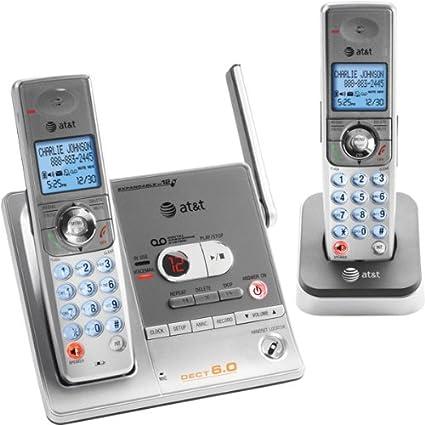 amazon com at t sl82218 dect 6 0 digital dual handset answering rh amazon com