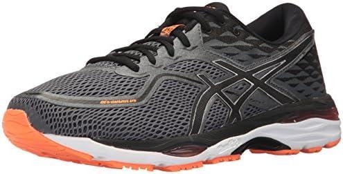 ASICS Men's Gel-Cumulus 19 Running Shoe, Carbon/Black/Hot Orange ...