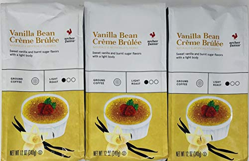 Archer Farms Vanilla Bean Creme Brulee Ground Coffee - (Pack of 3) - 12 oz Each - Light Roast Arabica Coffee ()