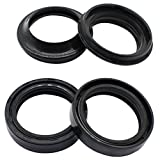 Cyleto Front Fork Oil Seal and Dust Seal Kit 35 x 48 x 11mm for Honda CB750F CB750 F Super Sport 1975-1980 / CB750K 1972-1982 / CB750L CB750 L 1979