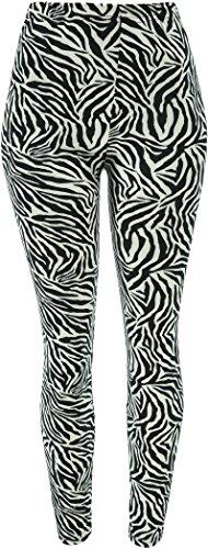 Hand By Hand Aprileo Women's Leggings Soft Stretch Elasticated Waistband [Zebra]