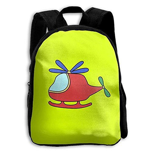 Cartoon Airplain Kids Backpacks Double Shoulder Print School Bag Travel Gear Daypack Gift by LAUR