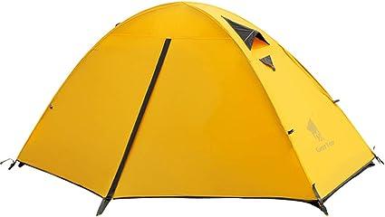 GEERTOP Kuppelzelt Campingzelt Familienzelt Trekkingzelt 20D Super Leicht 90 x 210 x 100 cm (1,9kg) Einzelnes Personen 3 bis 4 Jahreszeiten Ideal