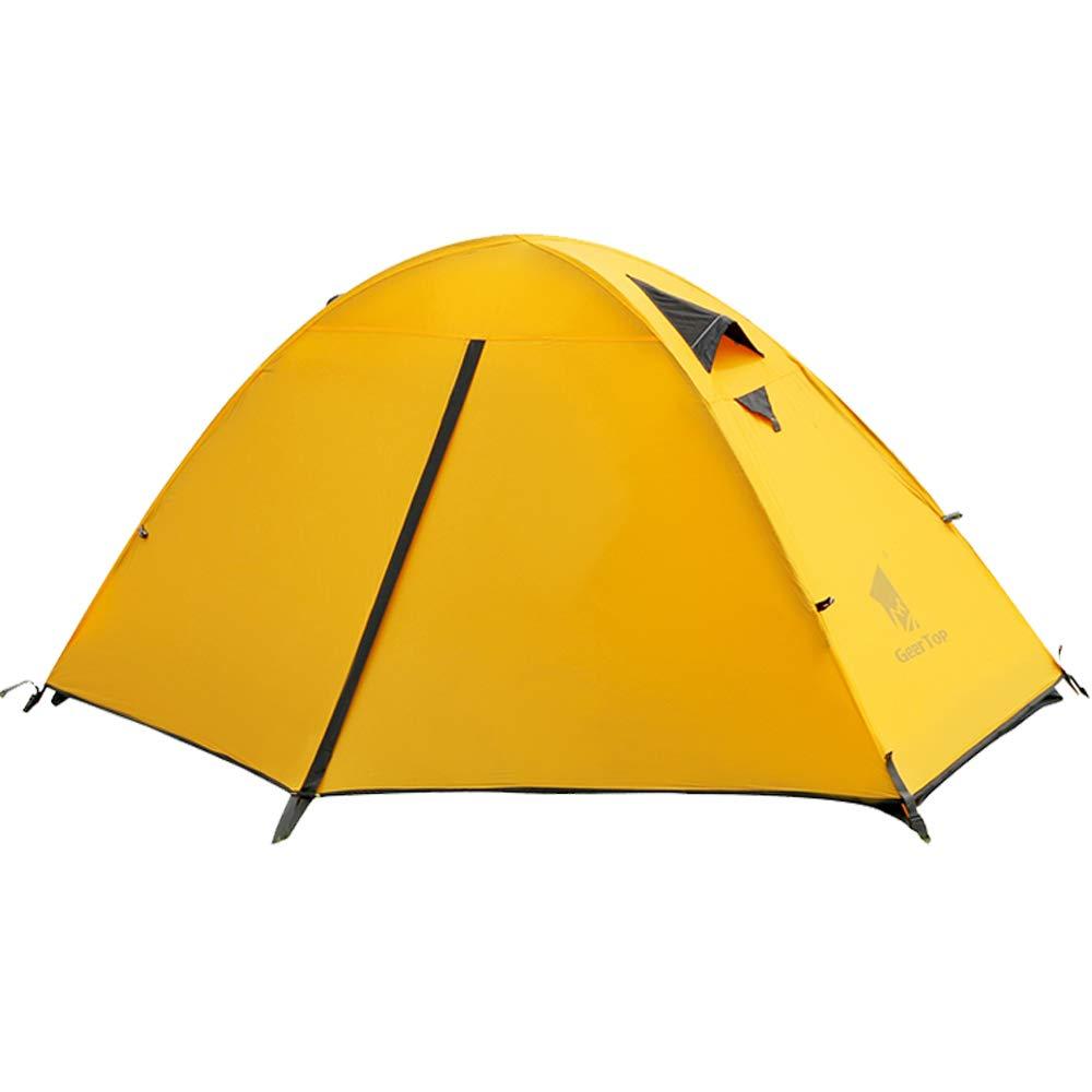 GEERTOP Kuppelzelt Campingzelt Familienzelt Trekkingzelt 20D Super Leicht - 90 x 210 x 100 cm (1,9kg) - Einzelnes Personen 3 bis 4 Jahreszeiten Ideal für Camping Wandern Reisen und Klettern