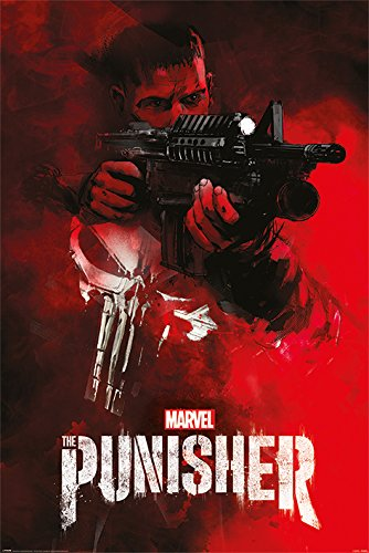 The Punisher - Marvel / Netflix TV Show Poster / Print (Machine Gun / Aim) (Size: 24