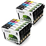 JARBO 2 Set+2 Black Replacement for Epson 220 Ink Cartridge High Capacity, Worked with Epson Workforce WF-2650 WF-2630 WF-2660 WF-2750 WF-2760 XP-320 XP-420 XP-424 Printer