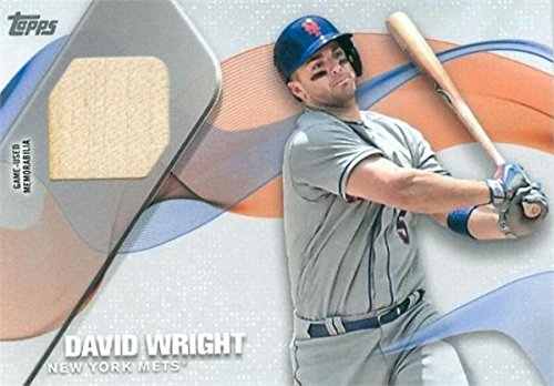 Autograph Warehouse 343698 David Wright Player Used Bat Patch Baseball Card - New York Mets 2017 Topps No. MLM-DW