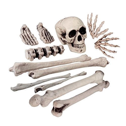 Halloween Skull and Bones 12 Piece Skeleton Set Party Decoration by BOLAND BV]()