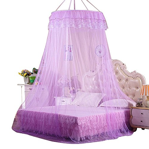 Best Review Of Mosquito Net Bed Canopy, Rusee Lace Dome Netting Bedding Double Bed Conical Curtains ...