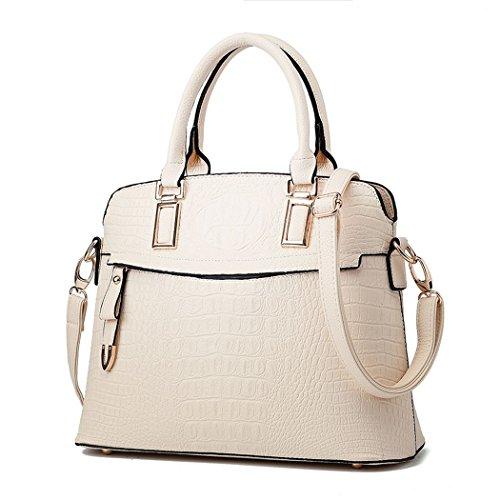 flake-rain-womens-gentlewomanly-fashionable-alligator-grain-handbag-crossbody-bagwhite