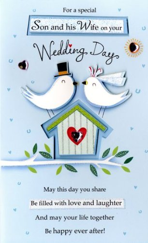 Amazon son wife wedding day greeting card second nature poem son wife wedding day greeting card second nature poem corner cards m4hsunfo