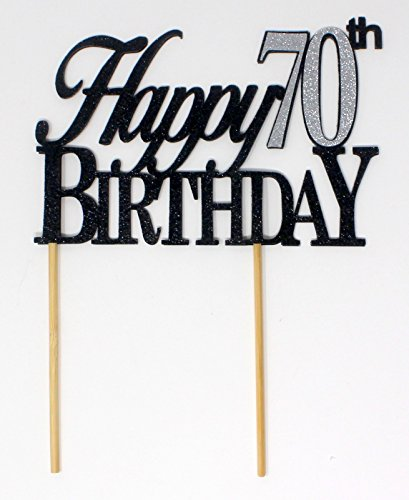 All About Details X001SMIYF3 Happy 70th Birthday Cake Topper