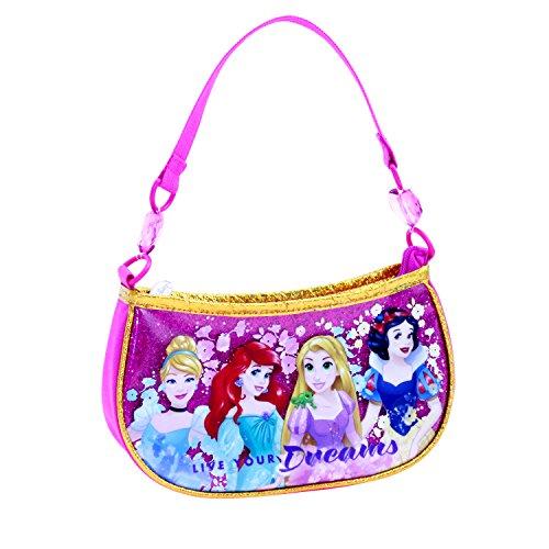 Disney Girls' Princess Beaded Handbag Shoulder Bag, Pink, One Size