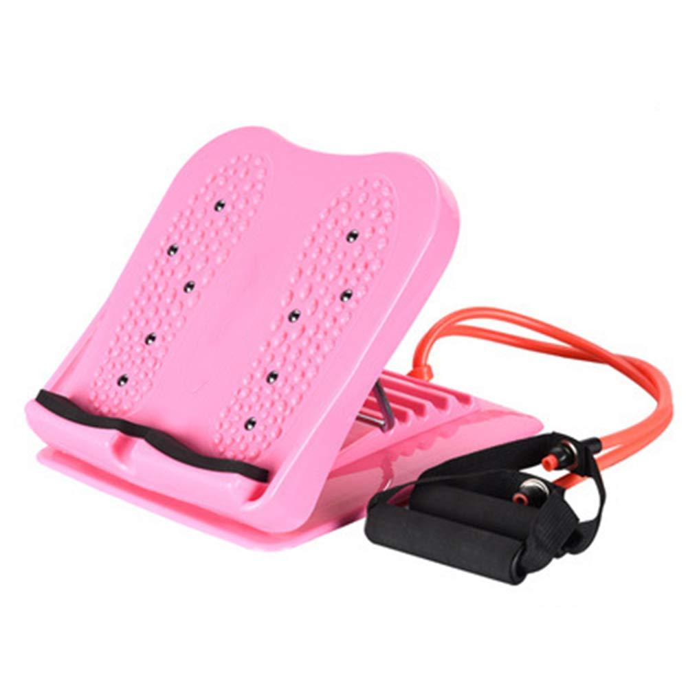 DONG Einstellbar Fuß Bahre Slant Board zum Kalb Stretching Plantarfasziitis und Tendonitis,Pink