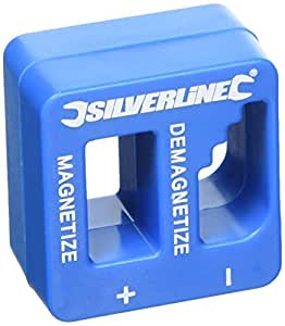 Silverline 245116 - Magnetizador desmagnetizador 50 x 50 x 30 mm