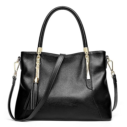 Women Genuine Leather Hobo Bags Soft Shoulder Handbags Supple Lady Satchels by Qiwang