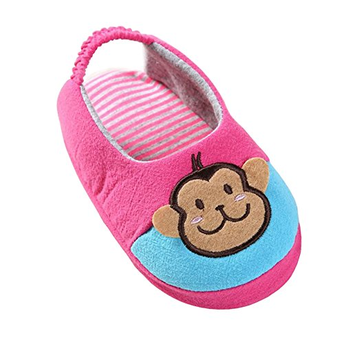 Beeliss Toddler Slippers Cartoon House Shoes (7-8 M US Toddler, (Cartoon House)