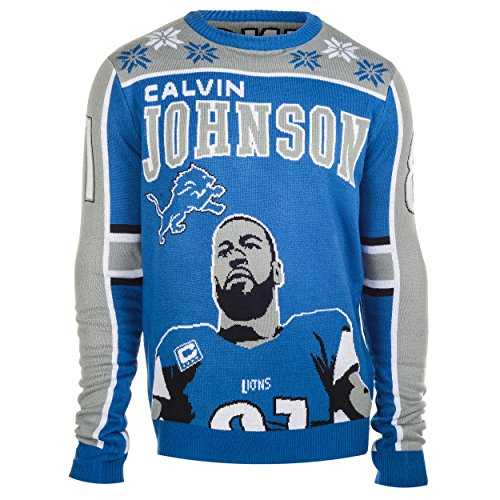 amazoncom nfl football 2015 player holiday ugly sweater sports outdoors - Seahawks Christmas Sweater