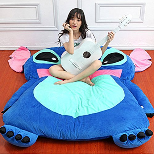 Cute Cartoon Lilo&Stitch Image Sleeping Bag Sofa Bed Twin Bed Double Bed Matt... by Alkem