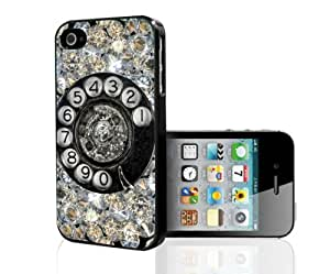 Antique Diamond Dial up Phone Hard Snap on Phone Case (iPhone 4/4s)