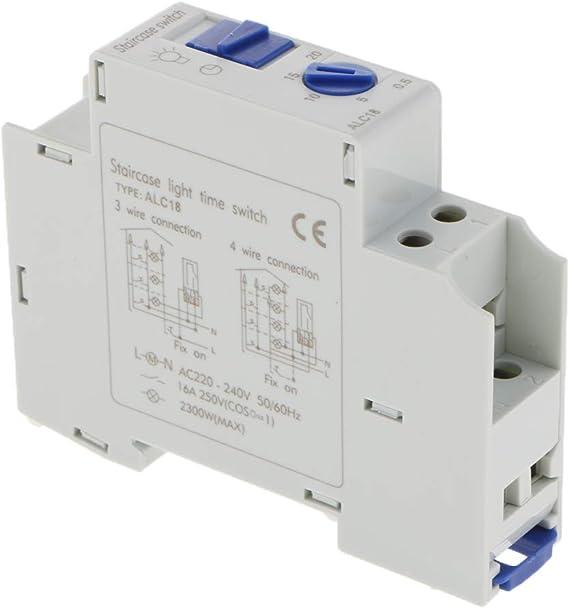 Módulo Interruptor de Relé de Tiempo de Carril Din Automático CA ...