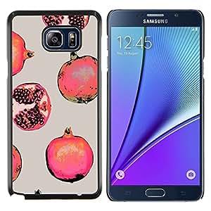 LECELL--Funda protectora / Cubierta / Piel For Samsung Galaxy Note 5 5th N9200 -- Pintura roja de la fruta --