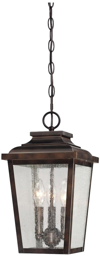 Minka Lavery 72174-189 Irvington Manor 3 Light Chain Hung Lantern, Chelesa Bronze Finish