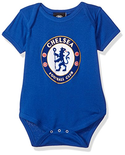 International Soccer Chelsea Newborn Team Logo Bodysuit, 9 Months, Royal (Baby Team Ball)