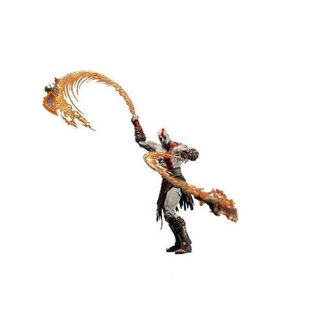 B  Zfggd Personnage Anime Modèle Ares 7 Pouce Kratos Couteau Version Feu Modèle Mobile Statue Cadeau Souvenir Artisanat Cadeau De Vacances Décoration (18CM) (Couleur   A)