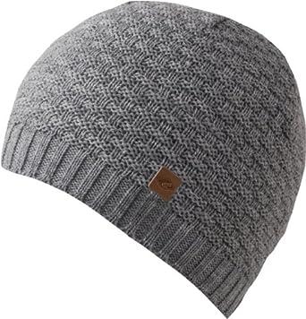 Feinzwirn Kasimir - Gorro tejido para hombre con forro de lana gris . 2bb994f6634