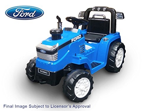 Beyond Infinity 12V Ride On Ford Tractor in Battery Powered Wheel Kids Ride On, Blue, 42.52 x 21.26 x 26.8