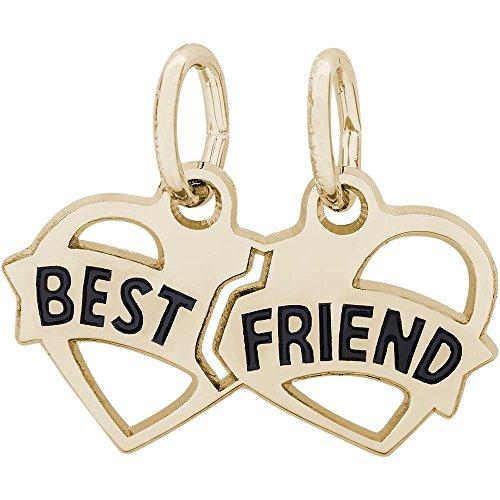 Rembrandt Charms Best Friends Charm, 14K Yellow (14k Best Friend Charm)