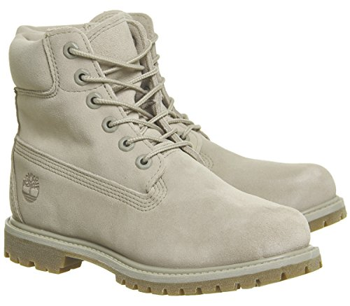 Timberland 6in Premium Boot Bj9, Stivali Classici Donna Taupe