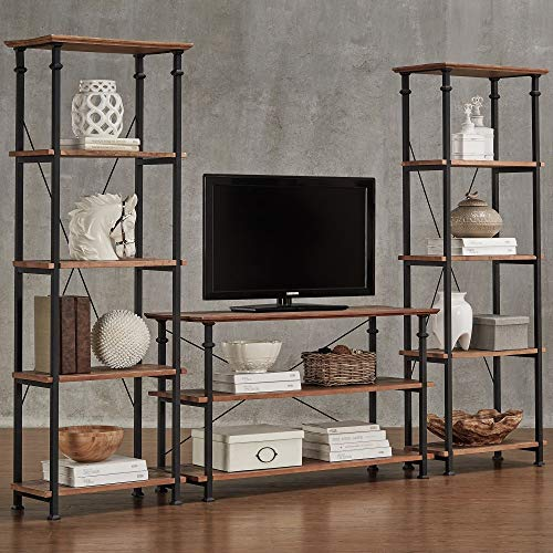 ge Industrial Modern Rustic 3-Piece TV Stand Set by Classic ()