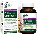 Gaia Herbs Echinacea Goldenseal, Vegan Liquid Capsules, 60 Count – Immune Support and Healthy Inflammatory Response During Seasonal Stress, Made with Organic Echinacea