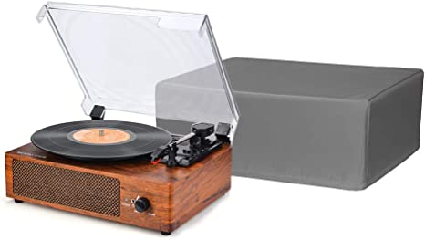 """Turntable Dust Cover, Record Player Protector Case , Universal Size 18""""LX14""""Wx7""""H, Diamond Collection Accessory, Year Around Protection for Your ..."""