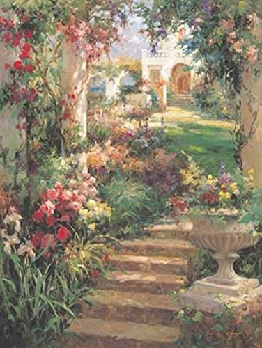 Posterazzi Ancient Garden Urn Poster Print by Vail Oxley, (22 x 28)