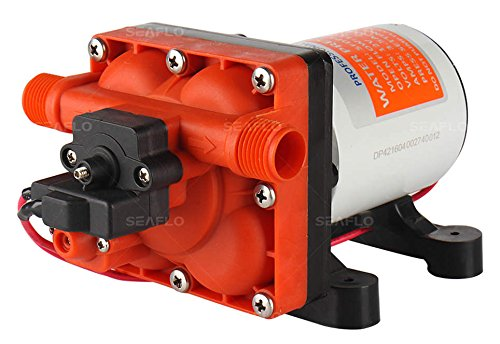 Seaflo 42 Series 12V 4.0 GPM 55 PSI Water Pressure Diaphragm Pump with Internal Bypass Valve to reduce cycling