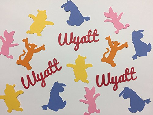 (Personalized Winnie the Pooh Confetti for Baby Shower or Birthday)