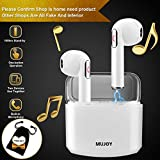 Wireless Earbuds Stereo,Bluetooth Headphones Earphones Earbud with Mic Mini In-Ear Earbuds Earphones Earpiece Sweatproof Sports Earbuds with Charging Case for Apple iPhone X 8 7 6 Plus Samsung Android