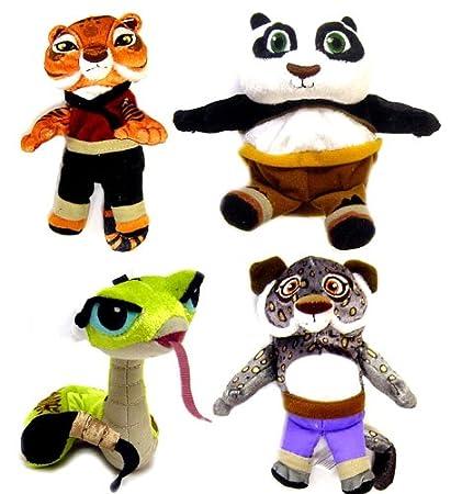 Amazon Com Kung Fu Panda Movie Set Of 4 Basic Plush 4 Inch Figures